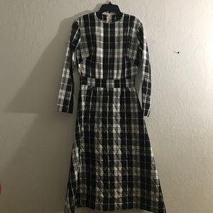 50s pinup plaid Maxi Dress